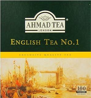 Ahmad Tea English Tea No.1, 100 Tagged Teabags, (Pack of 6)