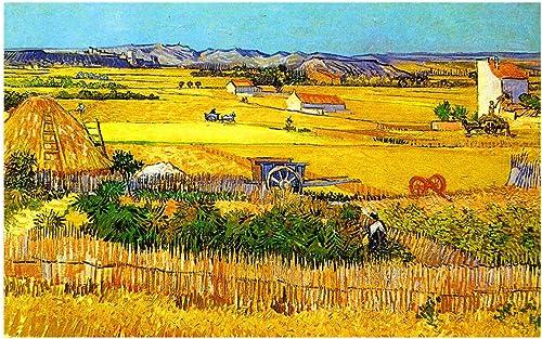 exclusivo 1500 piezas Van Gogh Pintura al óleo óleo óleo Trabaño de campo Rompecabezas para Niños Hombre adulto añolescentes Presión rojoucida Juguete de regaño - Juguetes de aprendizaje y educación Regaño Regaño del día  Garantía 100% de ajuste