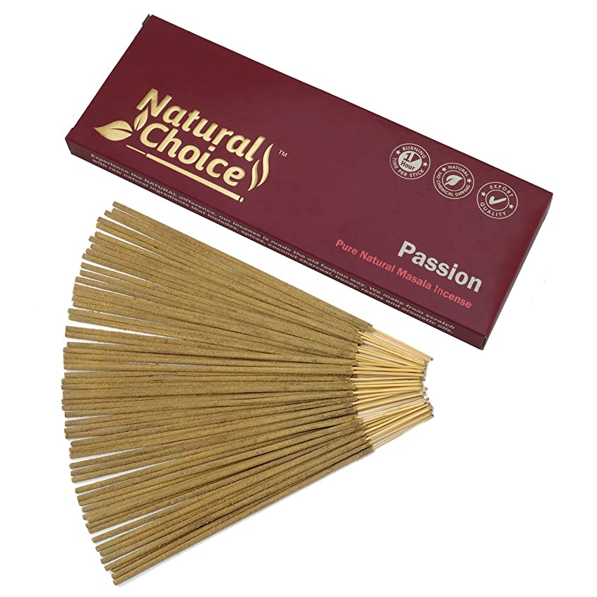 Natural Choice Incense Passion Incense Sticks 100?gm?–?Made from Scratch?–?No Dipping