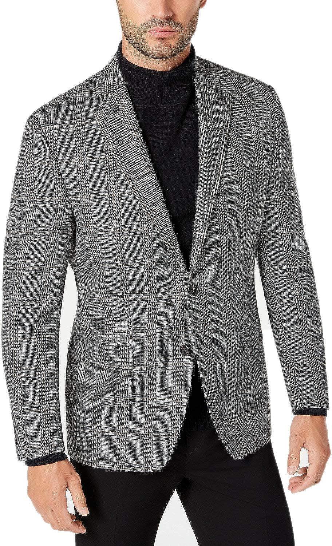 Lauren by Ralph Lauren Mens Sport Coat Houndstooth Wool Gray 38