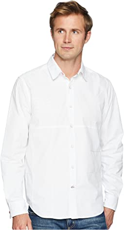 Long Sleeve Pieced Woven Shirt