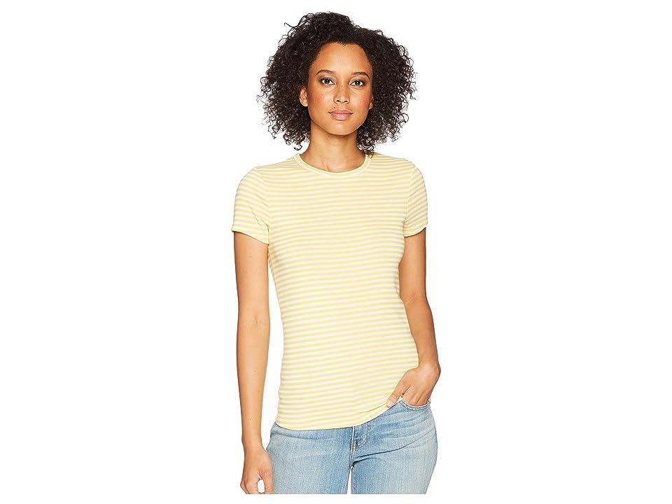 Three Dots Desert Stripe Tee (Summer Sun) Women