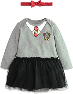 Warner Bros. Harry Potter Girls' Hooded Costume Ruffle Dress with Cape