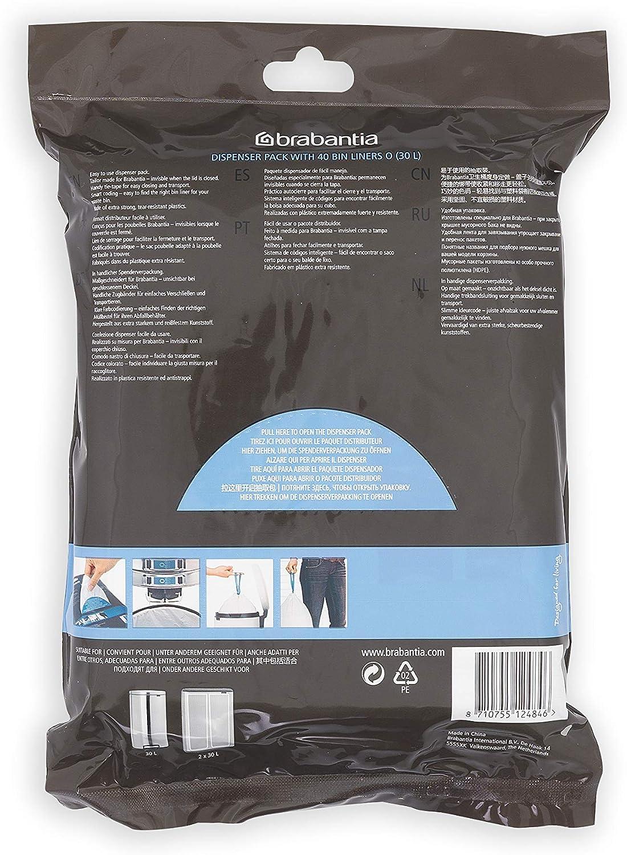 3 L 60 St/ück Wei/ß Plastik Brabantia V Spenderpackung PerfectFit M/üllbeutel Code V 23.5 x 29 cm