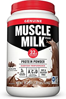 Cytosport Muscle Milk Genuine Protein Powder, Chocolate, 32g Protein, 2.47 Pound (Packaging May Vary)
