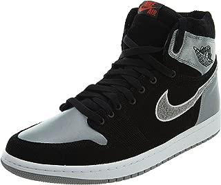 Nike Mens Air Jordan 1 Retro High Aleali Black/Shadow Grey Corduroy
