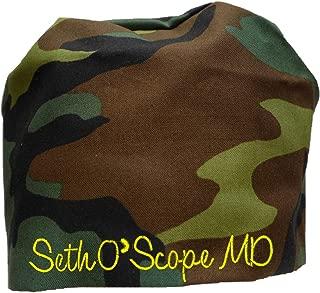 S1FM! Personalized Scrub Cap, Camo, Handmade, Dbl Cotton