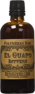 El Guapo Bitters Polynesian Kiss Bitters - Guava, Passion Fruit, Pineapple, Coconut Flavors - 100mL/3.4 fl. Oz