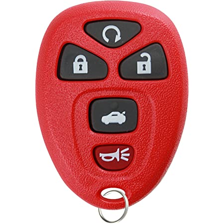KeylessOption Keyless Entry Remote Start Control Car Key Fob Replacement for 22733524-Red