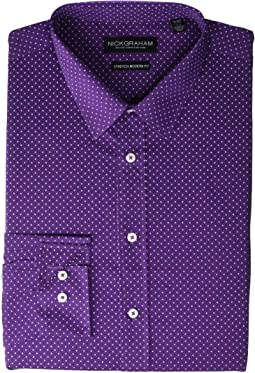 Pin Dot CVC Stretch Dress Shirt