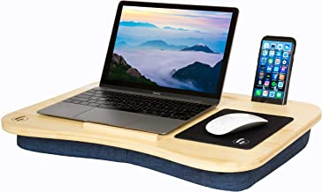 Lap Desk by Hultzzzy - Premium 100% Real Bamboo Surface - Fits up to 17 Inch Laptops - 15