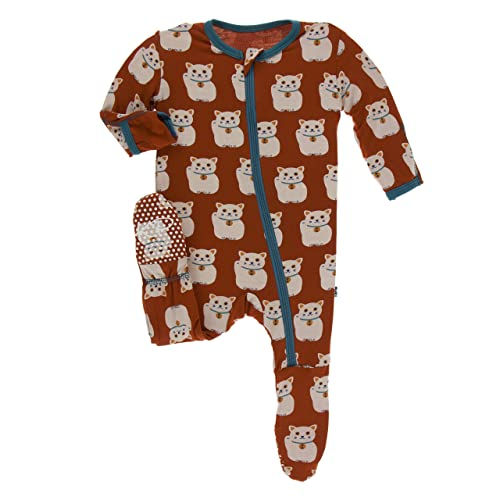 6377a0d81 Kickee Pants Bamboo Footie with Zipper