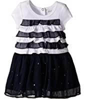 IKKS - Dress with Ruffled Top & Chiffon Skirt with Rhinestones (Infant/Toddler)