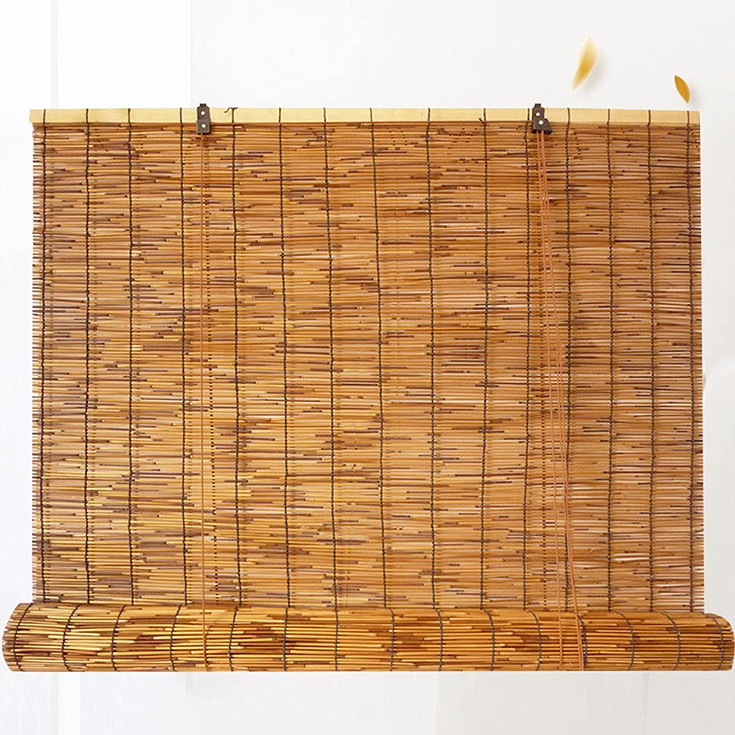 Carbonization Natural Reed Roll Beauty products Up Filtering Window Max 52% OFF Light Blind