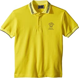 Versace Kids - Short Sleeve Polo with Logo (Big Kids)