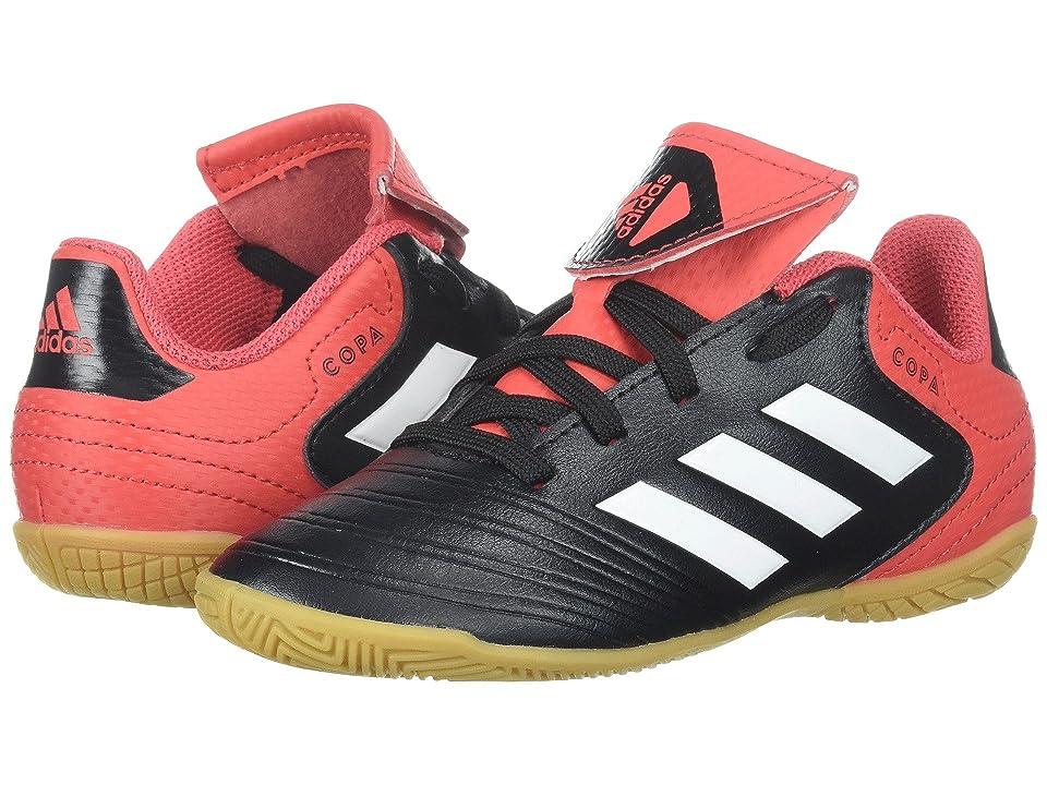 adidas Kids Copa Tango 18.4 Indoor (Little Kid/Big Kid) (Black/White/Real Coral) Kids Shoes