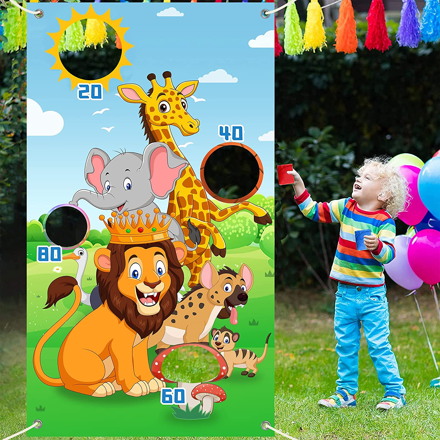 Safari Animals Backdrop Toss Fort Worth Mall Games price with Ba 4 Banner Bean