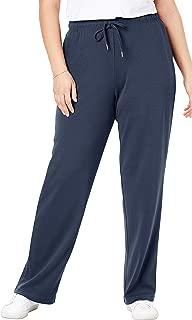 Woman Within Women's Plus Size Tall Sport Knit Straight Leg Pant