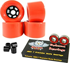 Owlsome 90mm Wheels Longboard Flywheels ABEC 7 Precision Bearings