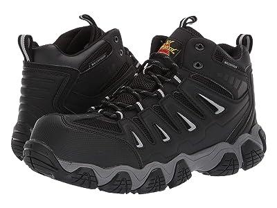 Thorogood Crosstrex Mid Waterproof Comp Toe (Black/Grey) Men