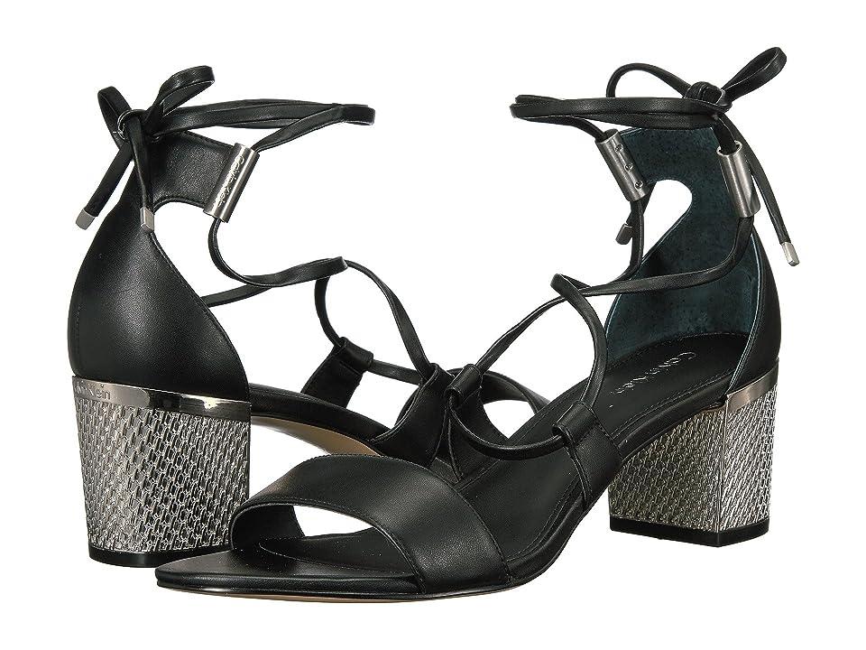 Calvin Klein Natania (Black Leather) Women
