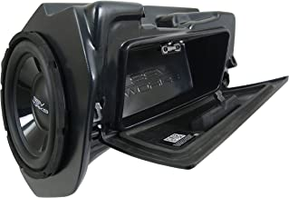SSV Works Polaris RZR1K 2 and 4 seat and 2015 RZR900 2 and 4 seat Glove Box Replacement Subwoofer Enclosure INCLUDES 10