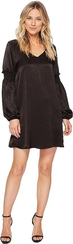 Ava Ruffle-Sleeve Dress