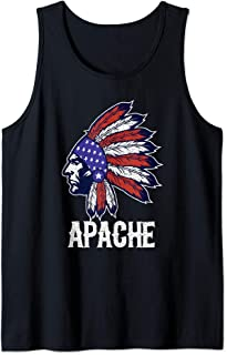 Apache Native American Flag Pride Headdress Tank Top