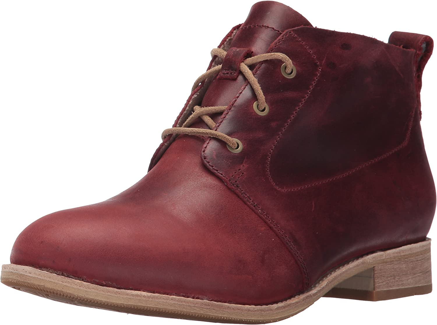 Caterpillar Womens Hester 3 Eyelet Leather Chukka Bootie Ankle Boot
