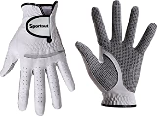 Sportout Golf Gloves, Cabretta Leather Golf Gloves for Men and Women, StableGrip Golf Glove, Perfect for Golf (L, Worn on Right Hand)