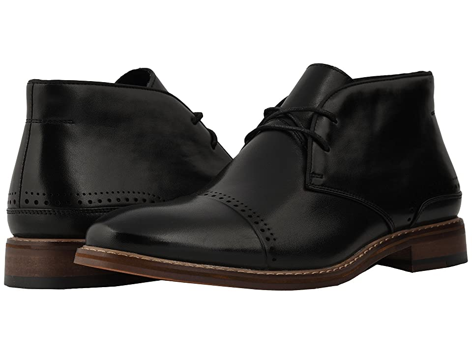 Stacy Adams Ashby Cap Toe Chukka Boot (Black) Men