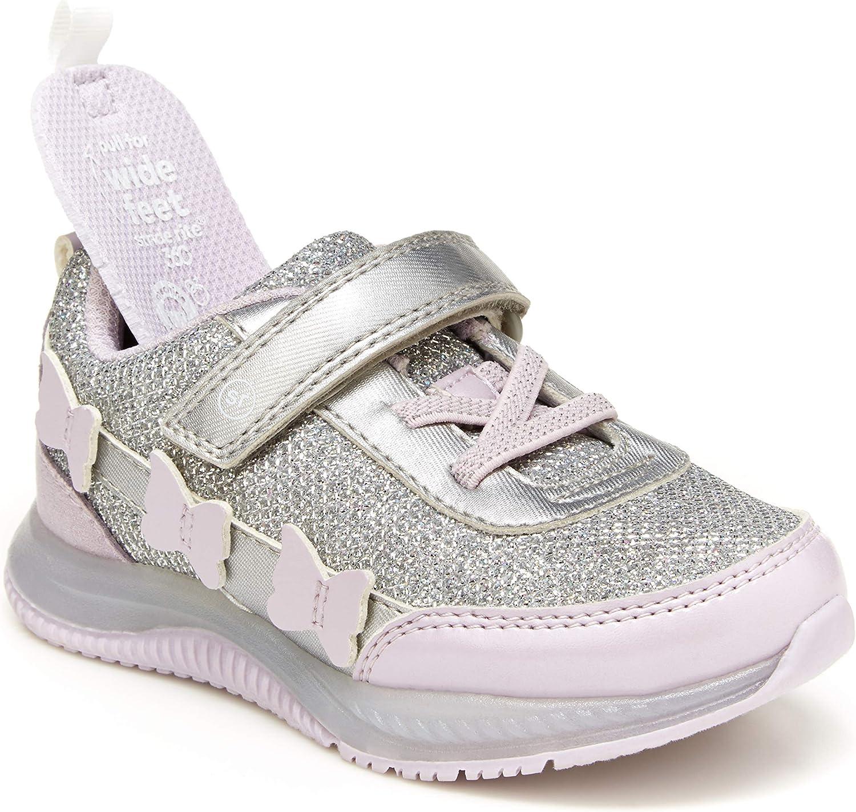 Stride Rite Girls Trinity Light-Up Sneaker, Multi, 6 Toddler