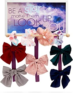 Juvale Bow Holder Hair Accessories Organizer for Girls, Be a Star (16 x 9.1 x 0.5 in)