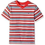 Tommy Hilfiger Boys' Stripe Vneck Tee with Pocket
