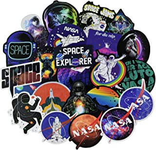NASA Stickers for Water Bottle[100pcs] Space Explorer Universe Galaxy Astronaut Spaceman Spacecraft Planet Decals for Laptop Hydro Flask Tumbler Computer Guitar Helmet Luggage Bike, kids teens gifts