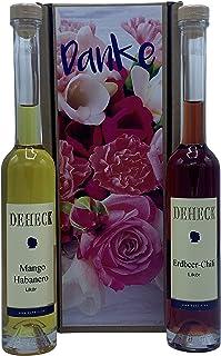 Geschenkset LiköreDANKE Erdbeer Chili und Mango Habanero Likör