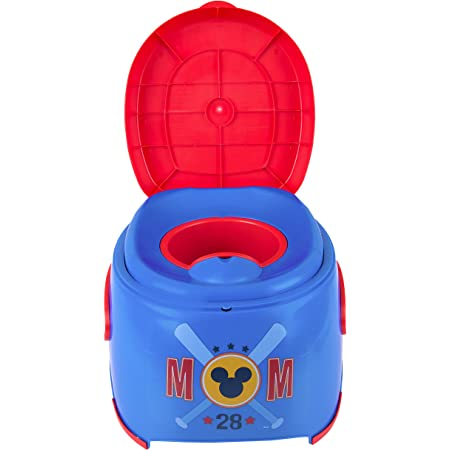Disney Mickey Mouse 3-in-1 Floor Potty Trainer, 11.25x17x13.38 Inch (Pack of 1)