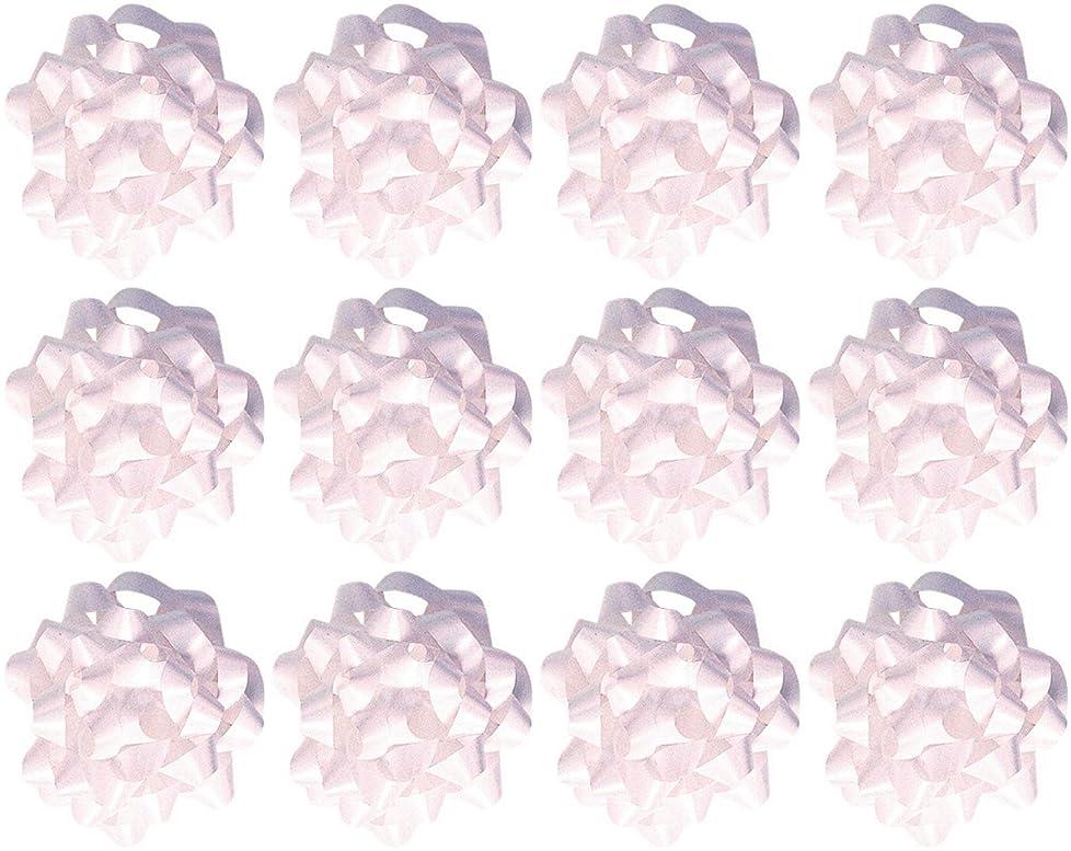 The Gift Wrap Company  Decorative Confetti Gift Bows, Medium, White, pack of 12 bigcfl837360315