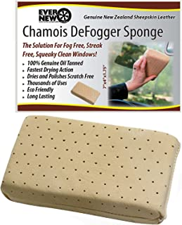Chamois DeFogger Sponge by Ever New Automotive Revolutionary Design! The Solution for Fog Free, Streak Free, Squeaky Clean Windows! Use it in Your Car, Boat, RV or Home! 100% Guarantee!