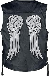 The Walking Dead Daryl Dixon Angel Wings Biker Real Leather Vest