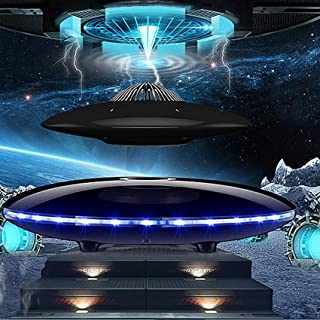 FHISD Magnetic Levitation Bluetooth Speaker Subwoofer LED Flash Bluetooth Phone Wireless Floating UFO Rechargeable Unique ...
