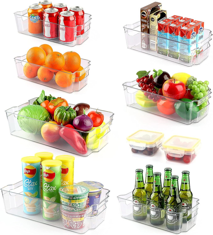 Set of Oklahoma City Mall gift 9 Refrigerator Organizer Organizers Stackable Fridge Bins