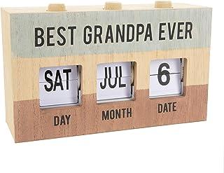 Pavilion - Best Grandpa Ever - Perpetual Wooden Desk Calendar