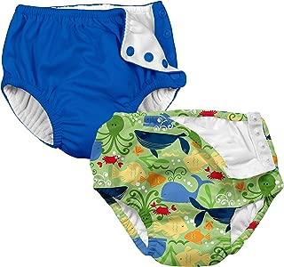 Boys' Reusable Absorbent Swim Diapers 2 Pack