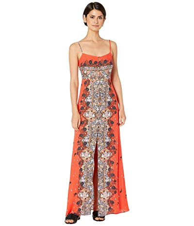 Free People Morning Song Printed Maxi (Red) Women