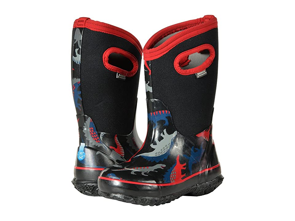 Bogs Kids Classic Dino (Toddler/Little Kid) (Black Multi) Boys Shoes