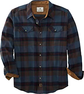 long sleeved top flannel Men/'s shirt medium check patterned shirt french vintage fitted