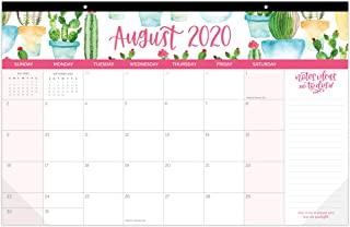 """bloom daily planners 2020-2021 Academic Year Hanging Wall/Desk Monthly Calendar Pad (August 2020 - July 2021) - 11"""" x 17"""" - Seasonal Designs"""