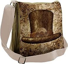 Lunarable Victorian Messenger Bag, Steampunk Fantasy Gears, Unisex Cross-body