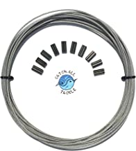 49-Strand Cable Vinyl Coated 7x7 Stainless Steel Kit 30ft 275lb 1.2mm W/10 1.6mm Crimps